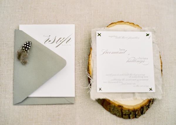 forest inspired wedding invitations