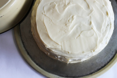 carrot cake with maple cream cheese frosting / a thousand threads