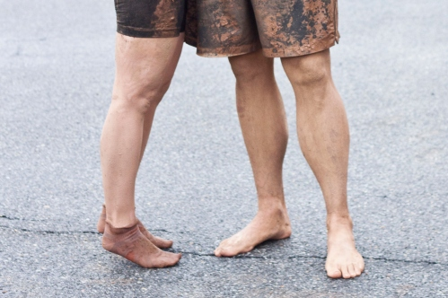 muddy feet / tough mudder / a thousand threads